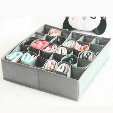 30 Slots Organiser Storage Box Wardrobe Drawer For Socks Ties Panties Underwear.