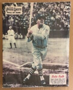 Police Gazette Original Vintage Poster Babe Ruth Boston Red Sox Baseball MLB