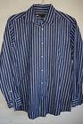 BEN SHERMAN Mens Cotton Button Down Shirt Stripe Long Sleeves M 15 32-33 Mod Fit