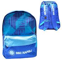 Zaino Napoli ssc calcio scuola elementare bimbo azzurro 2zip tasche blu 45x35x15