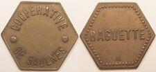 Monnaie de nécessité, Union Coopérative, Saulnes (54), Baguette, vers 1920 !!