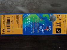 TICKET DE MATCH FOOTBALL J.O. SYDNEY 2000 -- ESPAGNE - CHILIE RARE