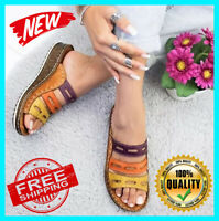 NEW Women Three-color stitching Sandals-OPEN-TOE-WOMEN-SANDALS-SUMMER-2019