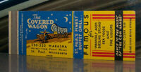 Vintage Matchbook Cover A2 St Paul Minnesota Covered Wagon Famous Steaks Moon