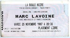 MARC LAVOINE la boule noire paris 1994 ticket invitation