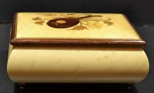 Reuge 37-Comb Music Box Inlaid Top Switzerland Swiss Plays 2 Classical Excerpts