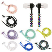 3.5mm Stereo Pearl Necklace Headphone Headset Super Bass Earphone Headset Earbud