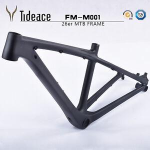 3K 26er Carbon Fiber OEM Bicycle Frames 14'' Cycling Bike Frameset BB92