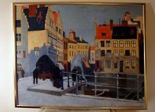 """Schilderij naar """"Avond op de kaaien, Gent"""", Albert Baertsoen."""