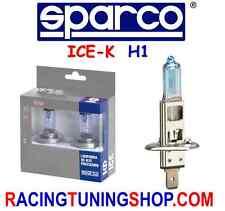 COPPIA LAMPADE LAMPADINE H1 SPARCO AZZURRE LUCE BLU EFFETTO XENON - BLU LIGHT