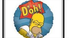 """18"""" Globo De Papel De Aluminio d'oh Homero Simpson Los Simpsons Decoración Fiesta De Cumpleaños Papá"""