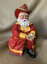 "Clothique Possible Dreams Christmas Kneeling Santa Fireman ""Candlelight Vigil"""