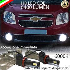 KIT FULL LED CHEVROLET ORLANDO LAMPADE H8 FENDINEBBIA CANBUS 6400 LUMEN 6000K