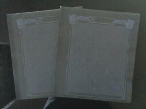 RARE VINTAGE 100+ BLACK QUADRILLE LINED STAMP ALBUM LEAVES / PAGES c1950 UNUSED