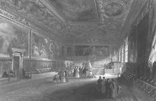 VENICE Italy DOGE'S DUCAL PALACE ~ 1841 Baroque Architecture Art Print Engraving