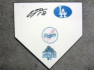 KENTA MAEDA Los Angeles Dodgers SIGNED World Series 2017 Home Plate Base w/COA