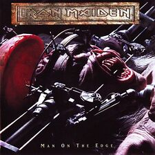 Iron Maiden - Man On The Edge EP Vinyl LP Heavy Metal Sticker or Magnet