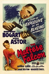 The Maltese Falcon 1941 Movie Poster Print A0-A1-A2-A3-A4-A5-A6-MAXI C390