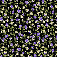 Accent On Pansies Benartex Quilt Fabric Jackie Robinson Petite Pansy Bl 0256812B