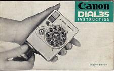 Canon Bedienungsanleitung für Canon Dial35 - Instuctions  #Su