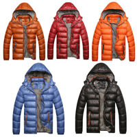 Men's Warm Hooded Bubble Parka Duck Down Coat Quilted Padded Puffer Jacket New