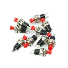 5X Red Mini 2 Pins Momentary On Off Push Button Micro Switch 6mm Mount Reset