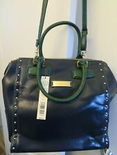NWT NEW Kate Landry Satchel Handbag Purse Beatrice Blue Green Large Size $99