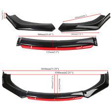 4pcs Universal Car Front Bumper Lip Body Kit Splitter Spoiler Diffuser Protector Fits Toyota Supra