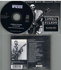 Lowel Fulson Reconsider Baby Charly Blues Masterworks Vol.48 CD 1993