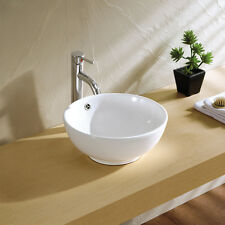 ABOVE COUNTER BATHROOM VANITY BENCH TOP CERAMIC BASIN 【free waste】