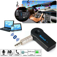 Wireless Auto Bluetooth Audio Stereo Player Car Receiver Adapter Mic 3.5mm AUX