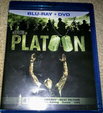 Platoon (Blu-ray/Dvd, 2011, 2-Disc Set) Free Shipping, Barely Used!