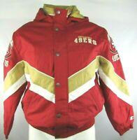 San Francisco 49ers Men's Vintage VTG STARTER Red Full Zip Winter Jacket NFL L