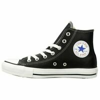 SCARPE CONVERSE ALL STAR ALTE HI CHUCK TAYLOR 132170C NERO BLACK PELLE LEATHER