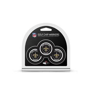 NFL New Orleans Saints 3 Pack Golf Ball Markers Poker Chip Enamel Team