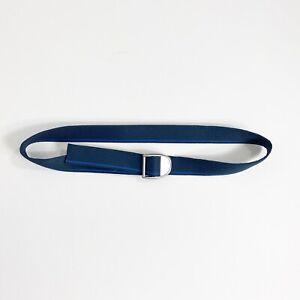 """Chaco Webbing Unisex Adjustable Nylon Belt 47"""" Blue Stripe - hiking trekking"""