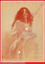 Dessin 11 ADRIANO DE VICENTIIS Crayonné Signé Numéroté 100ex Erotique 40 x 30 cm