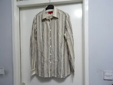 MENS HUGO BOSS LONG SLEEVE MULTI PAPER SHIRT SIZE L GREAT CONDITION