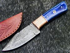 "Custom Handmade Damascus Steel Blade 8.0"" Hard WOOD - Hunting Knife WD-8906"