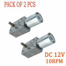 2pc Gear Motor Torque Turbo Dc 12v 10rpm For Window Door Opener Miniature Winch