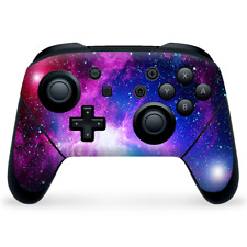 Nintendo Switch Pro Controller Skin Decal Vinyl Wrap - galaxy red blue purple