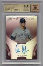 BGS 9.5 AUTO 10 AARON JUDGE 2013 Bowman Sterling RUBY REFRACTOR RC #/99 GEM MINT