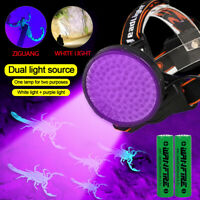 100 LED White & UV Flashlight BlackLight 395nM Inspection Lamp Torch Outdoor