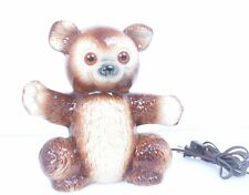 Awesome VINTAGE Adorable TEDDY BEAR Light Up Eye's Mid-Century TV LIGHT KRON