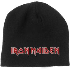 "IRON MAIDEN - ""CLASSIC LOGO"" - BEANIE HAT - OFFICIAL PRODUCT - U.K.SELLER"