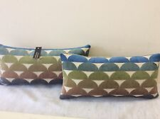 JANE CHURCHILL PACK OF 3 DESIGNER CUSHIONS Beige BACKING VELVET/BEDROOM