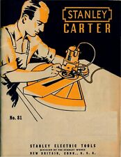 1950 Stanley-Carter Woodworking Equipment Industry Catalog No. 81