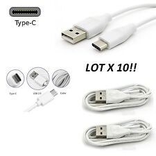 LOT 10 WHITE USB TYPE-C Cable G5 Nexus 5 ZTE ZMAX PRO Charger Cord c type LG V20