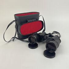 Vintage Hanimex Binoculars 10 x 50/ 5.5 Fully Coated Optics & Leather Carry Case