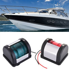 Marine Boat Yacht Pontoon Red Green Port Side Starboard LED Navigation Light 12V